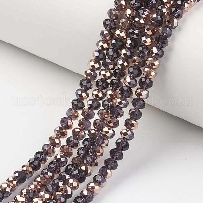 Electroplate Transparent Glass Beads StrandsUS-EGLA-A034-T8mm-N15-1