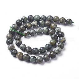 Natural African Turquoise(Jasper) Beads Strands US-G-D809-02-8mm