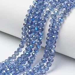 Electroplate Glass Beads Strands US-EGLA-A034-T10mm-I12