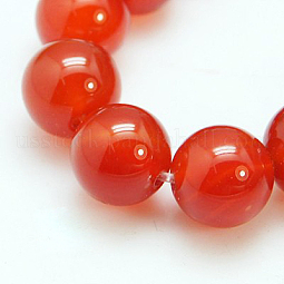 Natural Red Agate/Carnelian Beads Strands US-G-C076-6mm-2A