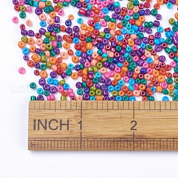 8/0 Baking Paint Glass Seed Beads US-SEED-S002-KM