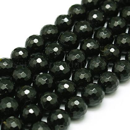 Natural Black Tourmaline Beads StrandsUS-G-C073-8mm-2-1