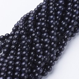 Synthetic Blue Goldstone Beads Strands US-GSR053