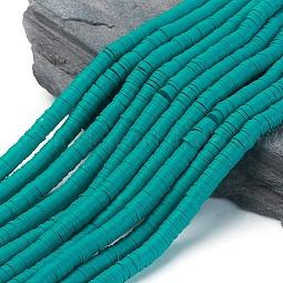 Flat Round Eco-Friendly Handmade Polymer Clay Beads US-CLAY-R067-6.0mm-07