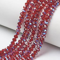 Electroplate Glass Beads Strands US-EGLA-A034-T6mm-I14