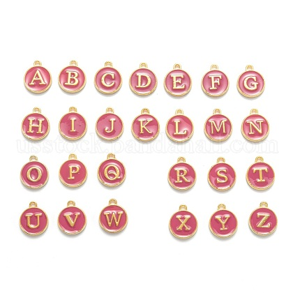 Initial Letter A~Z Alphabet Enamel CharmsUS-ENAM-Q437-03-1
