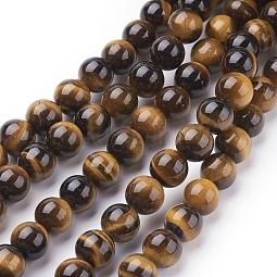 Natural Tiger Eye Beads Strands US-G-C076-8mm-1B