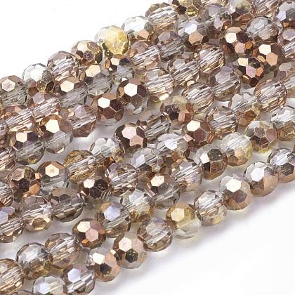 Electroplate Glass Beads StrandsUS-EGLA-J042-4mm-H03-1