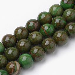 Natural Green Jade Beads Strands US-X-G-S272-03-8mm
