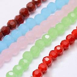 Eco-Friendly Glass Round Bead Strands US-EGLA-J042-4mm-M04