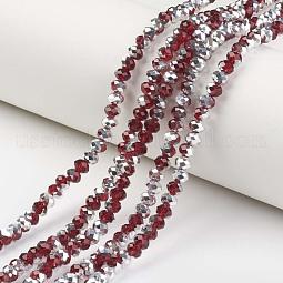 Electroplate Transparent Glass Beads Strands US-EGLA-A034-T10mm-M02