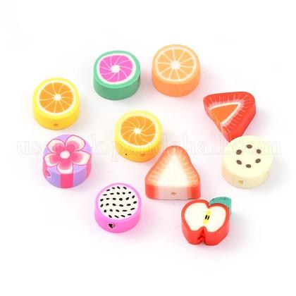 Mixed Fruit Theme Handmade Polymer Clay BeadsUS-CLAY-Q170-M-1