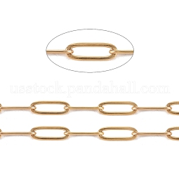304 Stainless Steel Paperclip Chains US-CHS-L022-02B-G