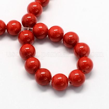 Natural Dyed Mashan Jade Gemstone Bead StrandsUS-G-R272-6mm-01-1