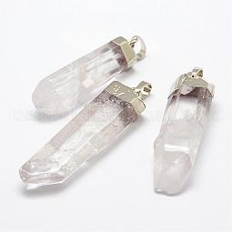 Natural Quartz Crystal Pendants US-G-F463-06S