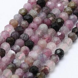 Natural Tourmaline Beads Strands US-G-F460-51