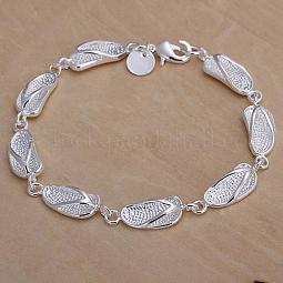 Fashionable Brass Slipper Link Bracelets For Women US-BJEW-BB12526