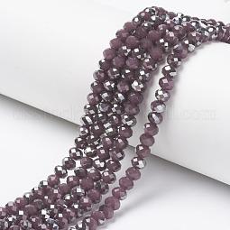 Electroplate Glass Beads Strands US-EGLA-A034-J6mm-E06
