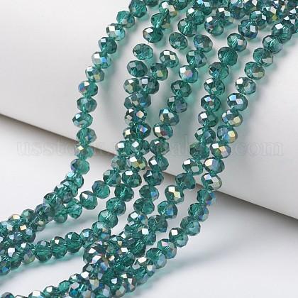 Electroplate Transparent Glass Beads StrandsUS-EGLA-A034-T8mm-S13-1