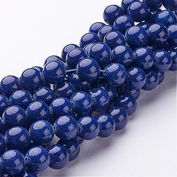 Natural Mashan Jade Round Beads Strands US-G-D263-10mm-XS09