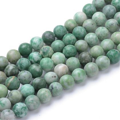 Natural Qinghai Jade Beads StrandsUS-G-T055-8mm-16-1