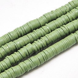 Flat Round Eco-Friendly Handmade Polymer Clay Beads US-CLAY-R067-6.0mm-43