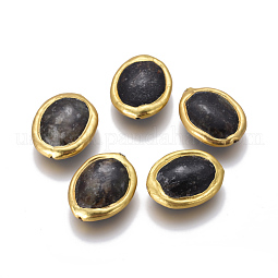 Natural Black Fossil Beads US-G-F633-14B