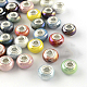 Rondelle AB-Color Handmade Porcelain European BeadsUS-PORC-R042-M3-1