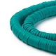 Flat Round Eco-Friendly Handmade Polymer Clay BeadsUS-CLAY-R067-6.0mm-07-2