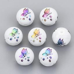 Electroplate Glass Beads US-EGLA-S178-12H