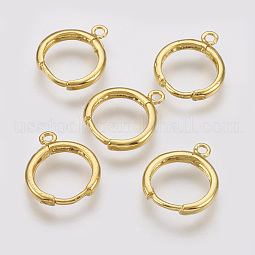 Brass Huggie Hoop Earring Findings US-X-KK-R058-143G