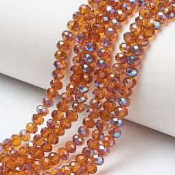 Electroplate Glass Beads Strands US-EGLA-A034-T10mm-I16