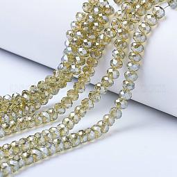 Electroplate Glass Beads Strands US-EGLA-A034-T10mm-A01