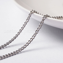 304 Stainless Steel Curb Chains Twisted Chains US-CHS-L014-14P