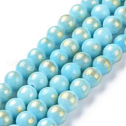 Natural Mashan Jade Beads Strands US-G-P232-01-H-8mm