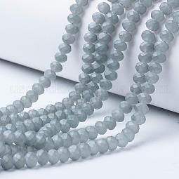 Electroplate Transparent Glass Beads Strands US-EGLA-A034-T8mm-X01