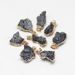 Natural Druzy Agate Pendants US-G-Q494-76E