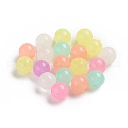 Luminous Acrylic Beads US-TACR-WH0002-16