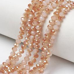 Electroplate Glass Beads Strands US-EGLA-A034-J10mm-J02