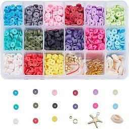 Eco-Friendly Handmade Polymer Clay Beads US-CLAY-JP0001-03-6mm