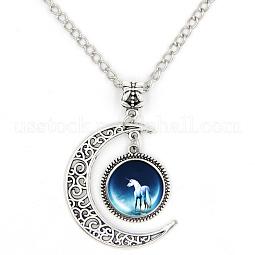 Picture Glass Pendant Necklaces US-PALLOY-D421-SK25