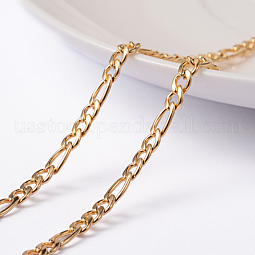 Vacuum Plating 304 Stainless Steel Figaro Chains US-X-CHS-L014-05G