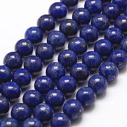 Natural Lapis Lazuli Bead Strands US-G-G953-03-8mm