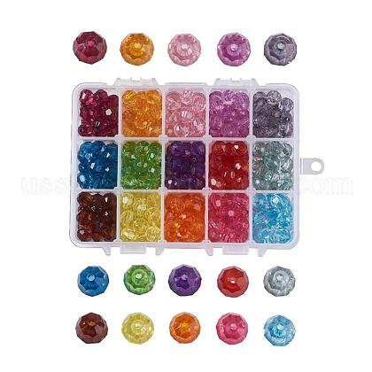 15 Colors Dyed Acrylic BeadsUS-OACR-JP0001-02-10mm-1