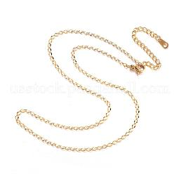 304 Stainless Steel Necklaces US-NJEW-E080-09G
