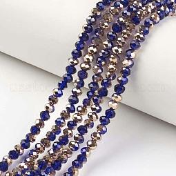 Electroplate Transparent Glass Beads Strands US-EGLA-A034-T10mm-N19