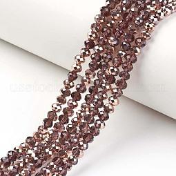 Electroplate Transparent Glass Beads Strands US-EGLA-A034-T10mm-N09