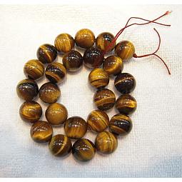 Round Tiger Eye Beads Strands US-Z0RQT011